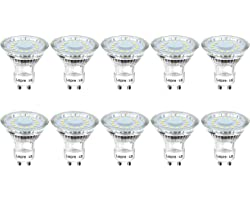Lepro GU10 LED Light Bulbs, Warm White 2700K, 50W Halogen Spotlight Equivalent, 4W 350lm, 120° Beam Angle, Non-dimmable, Pack