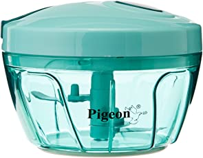Pigeon by Stovekraft New Handy Plastic Chopper with 3 Blades, Green