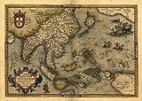 Kunstdruck (Reproduktion), A1 78x57cm, Antike Landkarte Asien (Japan, Indien, Südostasien, Indonesien, Neuguinea, Nordwestamerika, Malaysia) von Abraham Ortelius