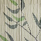 Türbehang Türvorhang Bambusvorhang Motiv Blätter 90x200cm