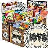 Original seit 1978   24x Allerlei   Geschenk Paket   Original seit 1978   DDR Box   Geschenke zum 40. Geburtstag für Mann   mit Liebesperlen, Viba, Pfeffi Stangen und mehr