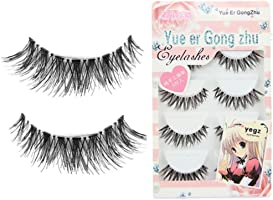 5 Pair / Lot Nette Criss Kreuzen Falsche Voluminöse Wimpern