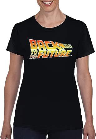 """TSP - Maglietta da donna con logo """"Zurück in die Future"""""""