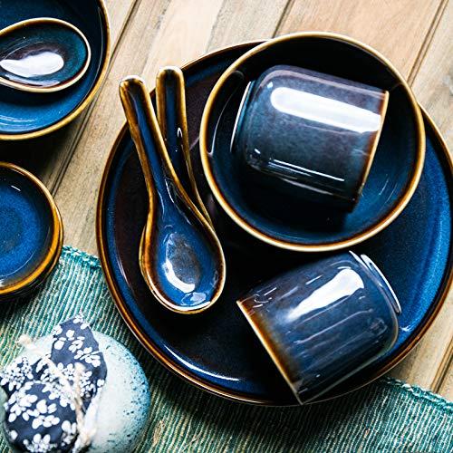 Hillhead Azul Antigua Serie vajilla de cerámica de la Loza del hogar Taza de la Cuchara Weidie Restaurante