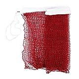 Red de badminton - TOOGOO(R)Red de badminton trenzada de estandar de entrenamiento profesional 6,0m x 0,75m Dobladillo blanco