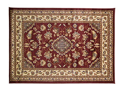 ERugs - Alfombra persa tradicional, 160 x 230 cm, diseño floral clás