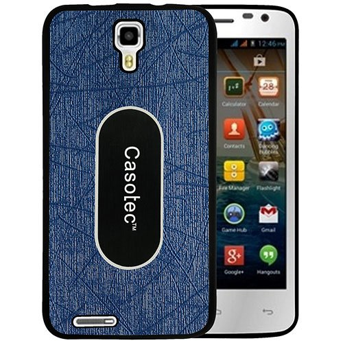 Casotec Metal Back TPU Back Case Cover for Micromax Canvas Juice A77 - Dark Blue  available at amazon for Rs.149