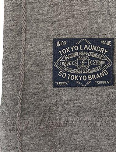 Tokyo Laundry Herren Charnwood Kurzärmlig Rundhals Basic T-Shirt Größe S-XXL Grau