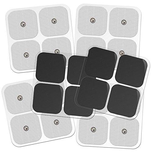Tens-universal-elektroden, Snap On Pads 10 Paar (20pads) Elektrodenpads Für Tens-therapie - Universell Kompatibel Mit Den Meisten Tens-modellen - Selbstklebend, Wiederverwendbar Und Premium-qualität