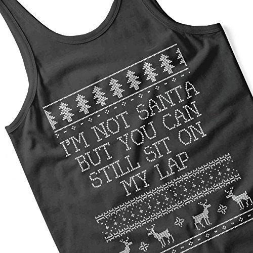 Im Not Santa Christmas Knit Women's Vest Black