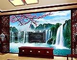 Lqwx Fond D'Écran De Paysage 3D Fonds D'Écran Hd Personnalisé Pour Une Salle De Séjour Non Tissé Autocollant Rouleau Papier Peint 400Cmx280Cm