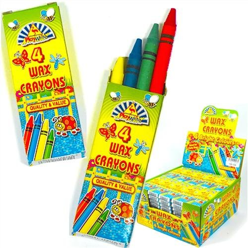 Wax Crayons Kids Party Bag Fillers 4 in pack, 10 packs supplied by Party Bags 2 Go