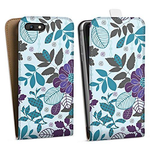 Apple iPhone X Silikon Hülle Case Schutzhülle Blumen Blätter Muster Downflip Tasche weiß