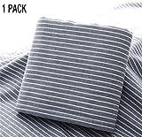 BATOWE 1 Stück Badetücher Waschlappen für Bad Baumwolle saugfähige Gestreifte Handtücher für Strand