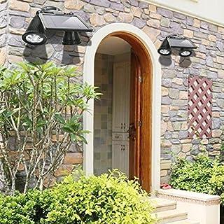 Solarleuchte 12 LED solar gartenleuchte 360 Grad drehbare solarlampen mit Bewegungsmelder wasserdicht im Freien Solarleuchten für Garten, Einfahrt, Innenhöfe, Balkons, Treppen, Außenwand