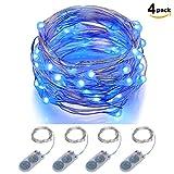 Lichterkette Batteriebetrieben ITART 20LEDs Deko Lichterkette Weihnachtsbeleuchtung Deko Weihnachten Party Ambientebeleuchtung 2M (4er) (Blau)