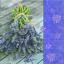 Geschenke 20 servilletas labiatae Vera – Ramo lavanda/Flores/lila ...