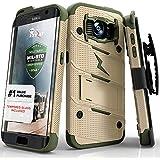 Galaxy S7bord 5,5en étui, housse à Zizo [] [slim Armor Double Couche de qualité militaire certifié] Support Holster avec clip ceinture Cordon