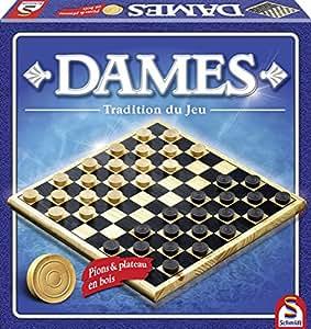 Schmidt - 88104 - Jeu de Plateau - Dames Bois Tradition