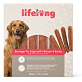 Marchio Amazon - Lifelong - Snack per cani: Salsicce Hot Dog pollo e bacon, carne di qualità (880 gr, 16 pezzi)