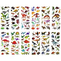 SAVITA Dinosaur Stickers 3D Puffy Stickers for Kids & Toddlers(300+ pcs), 24 Sheets Stickers for Reward Scrapbook Making Dinosaur Themed Birthday Party Favors