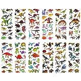 SAVITA Dinosaurier Aufkleber 3D Puffy Aufkleber für Kinder und Kleinkinder (über 300 Stück), 24 Blatt Aufkleber für das Prämien-Sammelalbum zum Thema Dinosaurier