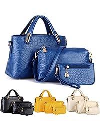 ESAILQ Un conjunto de bolsas de hombro bolso y la cartera de cuero para damas