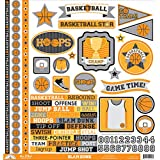 Slam Dunk This & That Cardstock Stickers 12X12- by DOODLEBUG