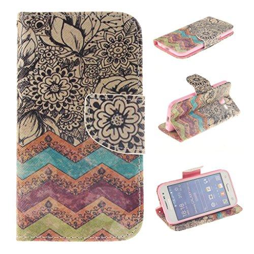 Nutbro Galaxy Avant Case,[Kickstand Flip Case] Galaxy Avant G386 Case Flip Cover ,Wallet Case for Samsung Galaxy Avant G386T,Samsung Galaxy Core LTE 4G G386F (Samsung Avant Bling Case)
