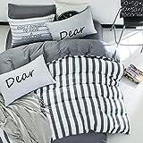 LUYR.R Persönlichkeit Einfache Baumwolle Vier Sätze Druck-Bettdecke Bettwäsche 1pc Duvet-Abdeckung 2pcs Shams 1pc Flat Sheet, 1.6m