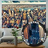 great-art Fototapete New York City Skyline - Wandbild Dekoration Sonnenuntergang Manhattan Amerika USA Deko Big Apple NYC I Foto-Tapete Wandtapete Fotoposter Wanddeko by 210x140 cm
