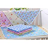 Sunflower Water Proof Bed Protector for Baby Dry Sheet Large (Multicolour, 90 x 60 cm) - Set of 1