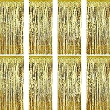 Sumind 8 Pack Fólia Függönyök Fringe Curtains Tinsel Background Fémes függönyök születésnapi esküvő Photo Booth dekorációk