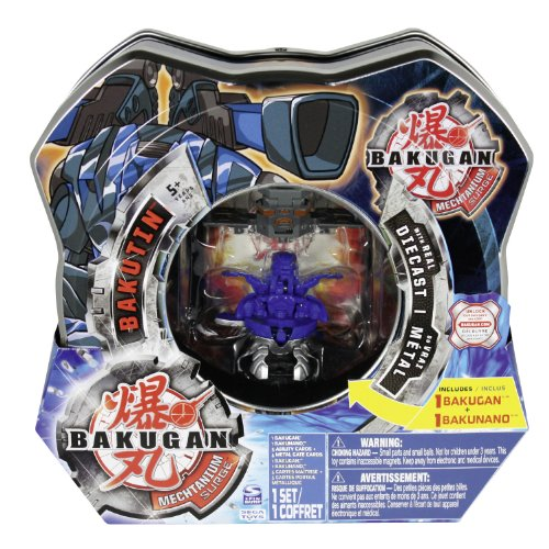 Bakugan - Battle Brawlers - Red BakuTin - includes 2 Bakugan (Style may vary) and 6 Metal Gate Cards