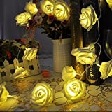 #6: New Warm White Rose Flower LED String Decoration Light for Wedding Garden Diwali Christmas Festival Decoration