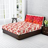 Tangerine Fete Gifting Cotton Double Bed...