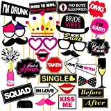 WOBBOX Bachelorette Photo Booth Props -Set of 29 Pcs