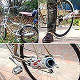 QHJ Fahrrad Bike Turbo Pipe Abgasanlage Sound Motorrad Megaphon Fahrrad Zubehör (Silber)