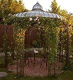 Casa Padrino Gartenpavillon Ø 325 x H. 350 cm - Verschiedene Farben - Pavillon aus Schmiedeeisen mit verzinktem Blechdach, Farbe:Vintage grün
