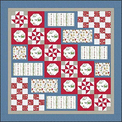 Kris Heinrich Lammers Christmas Joys Flanell Santa 's sockenfüllmaterial Quilt Kit Maywood (Studio -