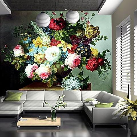 300cmX250cm European painting wallpaper large flower vase wallpaper mural wallpaper
