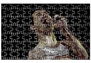 Freddie Mercury Typography 120pcs Puzzle affiche 20*30cm