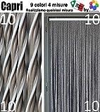 Bricoshopping Insektenschutzvorhang aus PVC, Capri, 9 Farben, 4 Größen, Made in Italy, braun