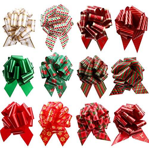 12 lazos de regalo de Navidad de 11 cm