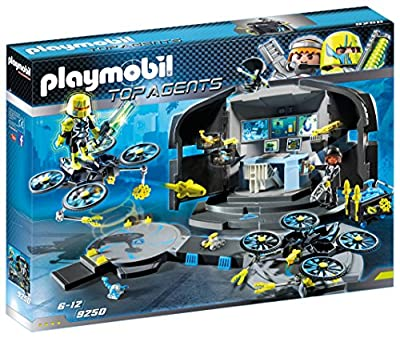 Playmobil 9250 Top Agents Dr. Drone's Command Base Toy Set from Playmobil UK
