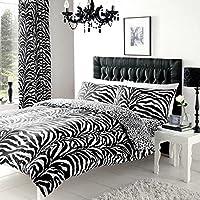 ZEBRA ANIMAL SKIN PRINTED REVERSIBLE DOUBLE BED