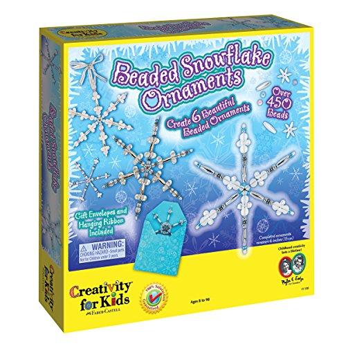 Creativity for Kids Kit Beaded Snowflake É (Beaded Christmas Ornament-kits)