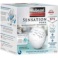 Rubson Absorbeur d'Humidité Sensation Pure, Déshumidificateur discret pour petites pièces de 10m², Absorbeur anti-odeur…