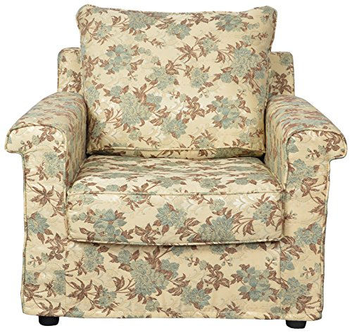 Kurl-on Eterno Single Seater Sofa (Light Green Floral)