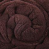 Bestlivings Kuscheldecke Flauschige Tagesdecke ca. 280g/m² vielseitig einsetzbare Microfaser-Decke, in vielen verschiedenen trendigen Farben erhältlich (220cm x 240cm / braun - hot Chocolate)